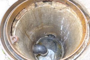 排水マス修理前