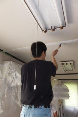 お部屋の木部ペンキ塗装