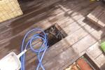 排水管白い油の塊詰まり/汚水マス掃除,高圧洗浄