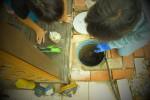 排水管 詰まり 高圧洗浄作業