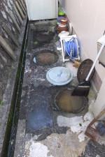 家の会所マスから汚水が溢れて逆流/排水管詰まり高圧洗浄