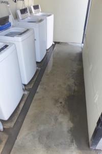 洗濯場清掃前