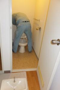 トイレの修理中
