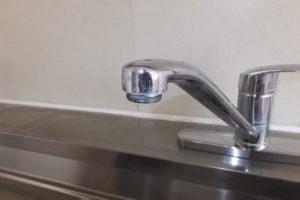 シングルレバー混合水栓修理前