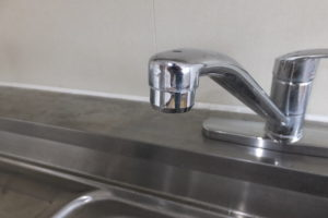 シングルレバー混合水栓修理後