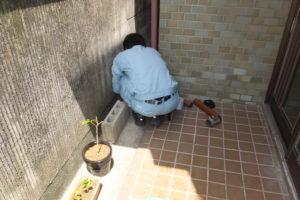 雨水管修理中
