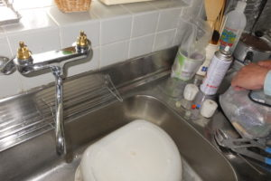キッチン混合栓修理