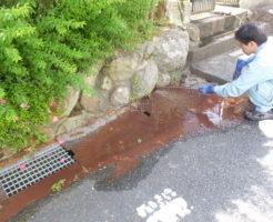 雨水管高圧洗浄つまり解消中