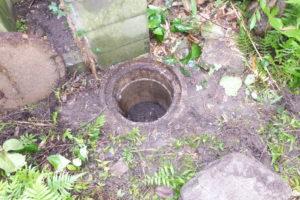 汚泥による排水マスのつまり