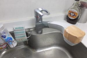 キッチンシングルレバー混合栓取り換え前