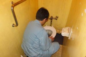 トイレ部品動作確認中