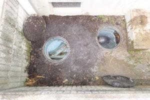 排水マス、排水配管の高圧洗浄清掃作業完了