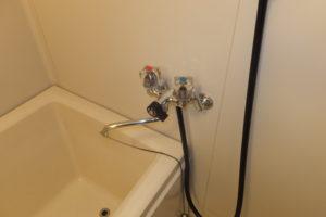 2ハンドルタイプバスシャワー混合栓取り換え前