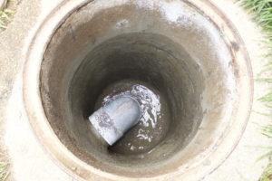 コンクリートマス水漏れ修理施工後