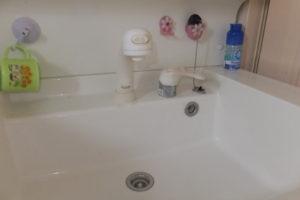 取り換え前 洗面台水漏れシャワー水栓