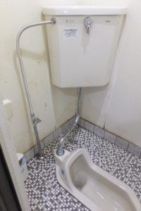 トイレ水道の給水配管の水漏れ修理作業完了