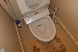 トイレの詰まった状態