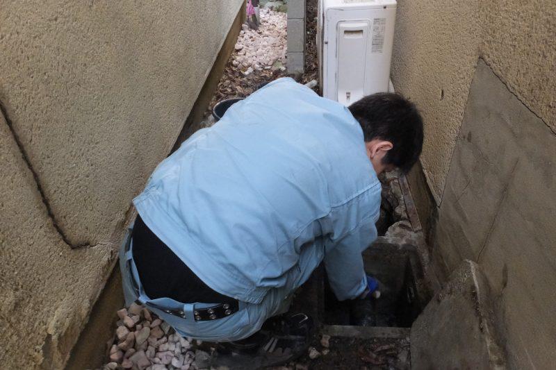 排水桝の水漏れ修理