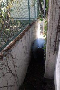 キッチン側排水桝水漏れ修理