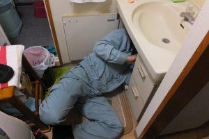 もう一度洗面台の下から取り換え交換