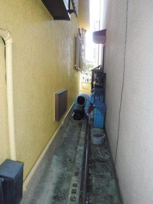 汚水マスの水漏れ部分修理