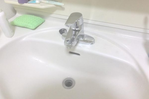 シングルレバー混合水栓に交換