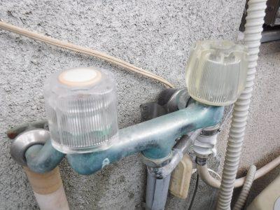 洗濯機2ハンドル混合水栓取り換え前