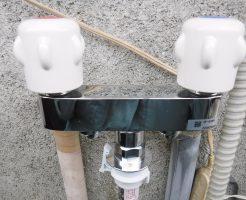 洗濯機2ハンドル混合水栓取り換え後