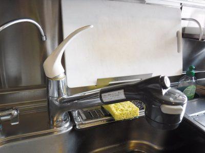 キッチンシングルレバーシャワー水栓水漏れ修理後