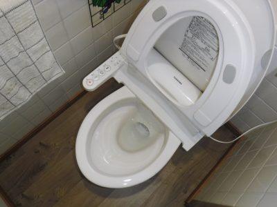 トイレの水が流れるようになりました