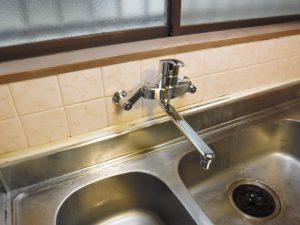 水漏れしたキッチン混合水栓取替交換完了後