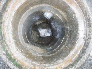 各下水マス、配管の清掃完了