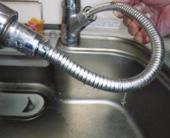 タカギ製のキッチンシングルレバー水栓のシャワーホースから水漏れ