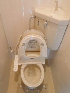 水がよく流れるようになったトイレ