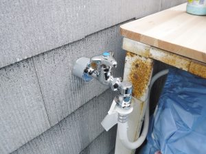 新品に取替交換後の洗濯機用水栓