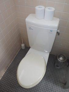 共同女子トイレ暖房便座取替前