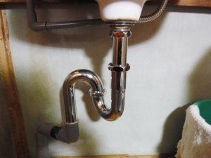 Sトラップ型排水パイプ取り換え交換後