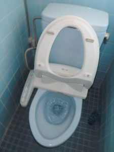 トイレの水が流れたままです