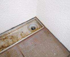 詰まって水が流れない排水口