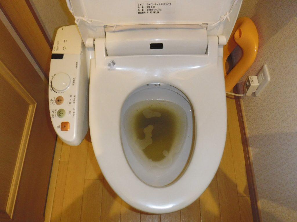 トイレが詰まっている状態