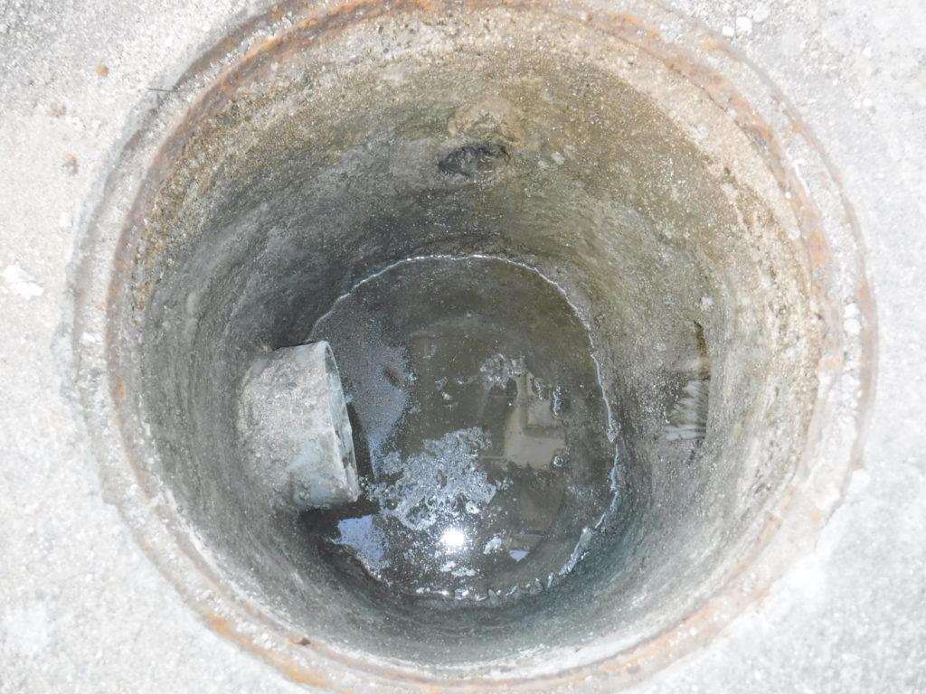 排水マスの修理後