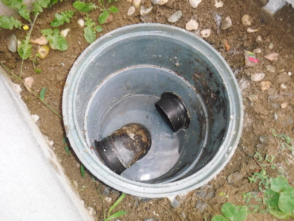 排水マスの油詰まり解消後