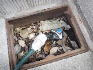 散水栓カチッとタイプに取り換え交換後
