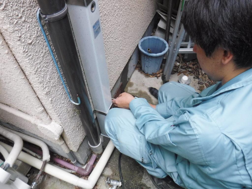 水栓柱工事中