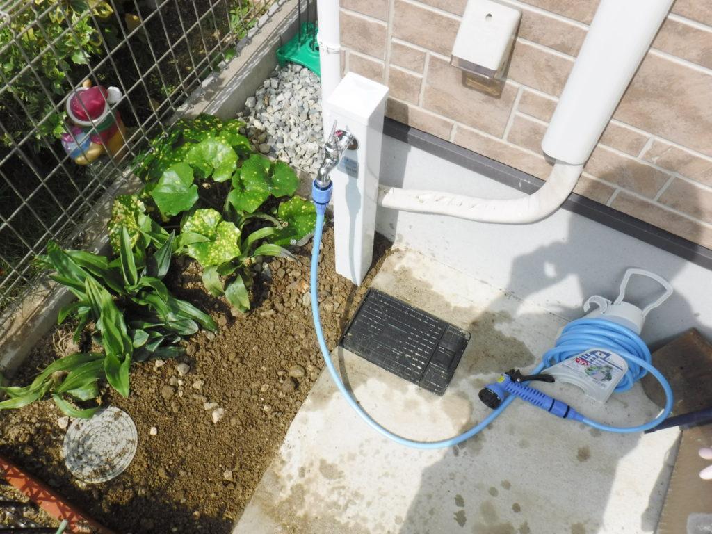 水道立水栓工事完了後
