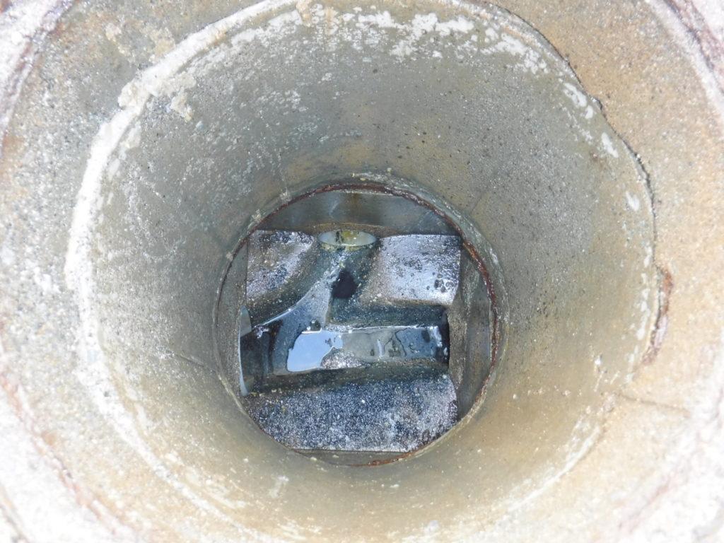 トイレ配管のつまり修理後の様子