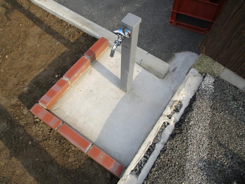 新しく新設されていた水栓柱