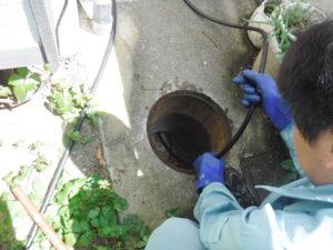 詰まり解消高圧洗浄清掃作業