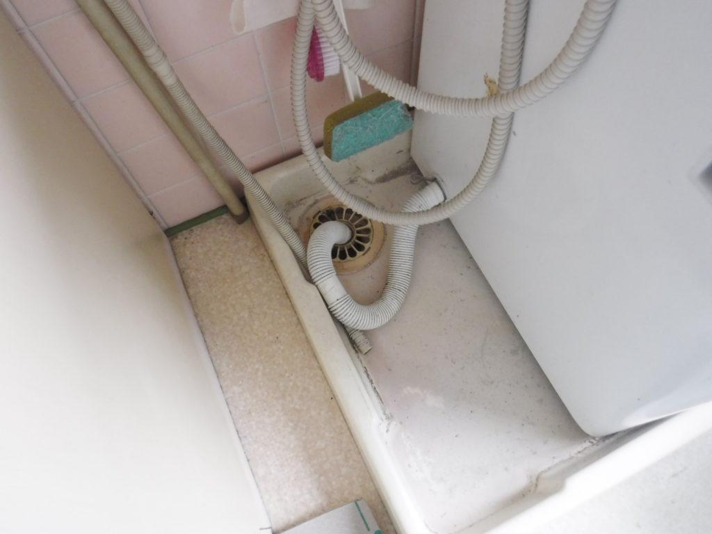 大阪府池田市での台所の排水が洗濯機排水管まで逆流してきていたようです