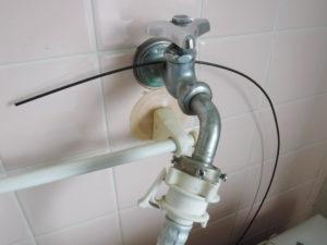 洗濯機蛇口水栓部品取替え前